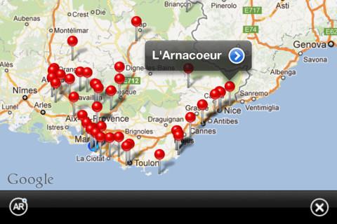 Situation géographique l'Arnacoeur