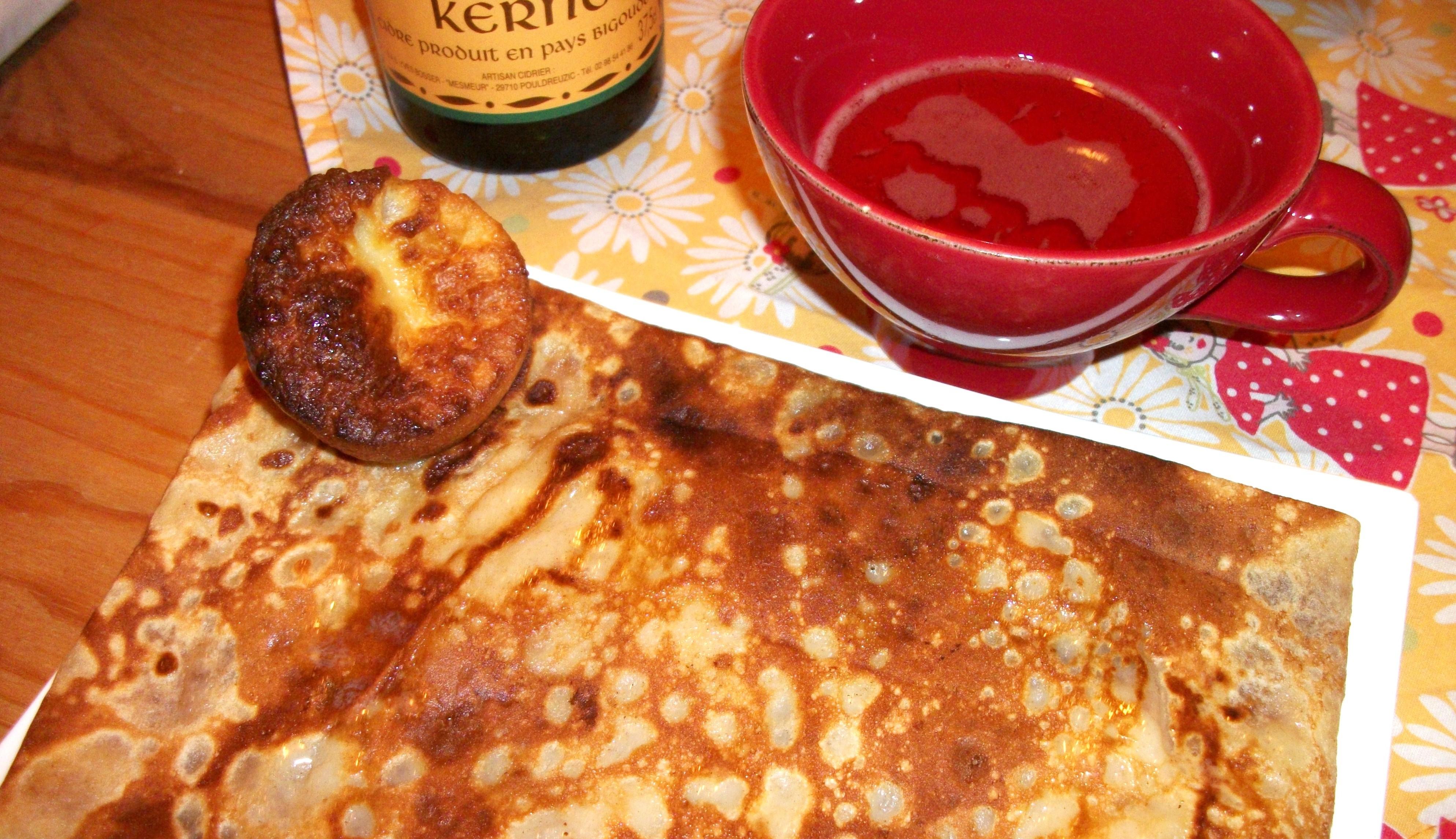 Crêpes cidre & compagnie - crêpe aux pommes cuites caramel beurre salé