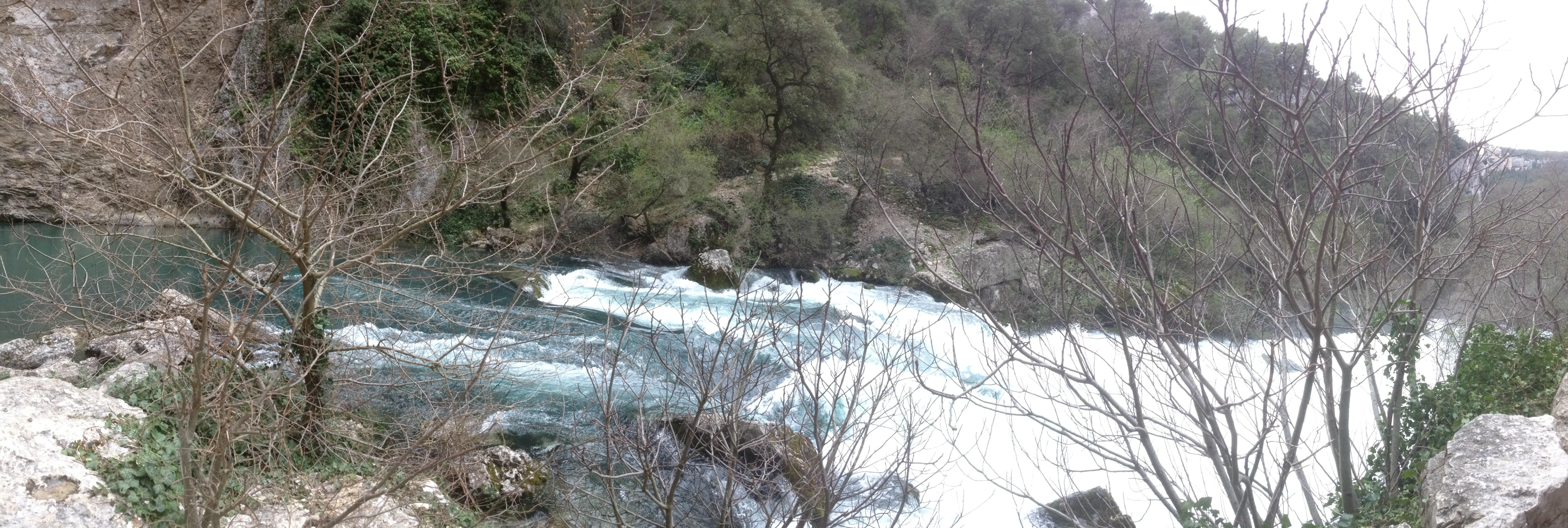 Fontaine de Vaucluse - ma Cigale - Crue mars 2013
