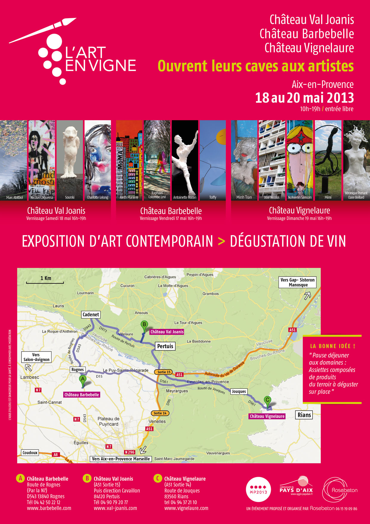 L'art en vigne 2013 - Flyer