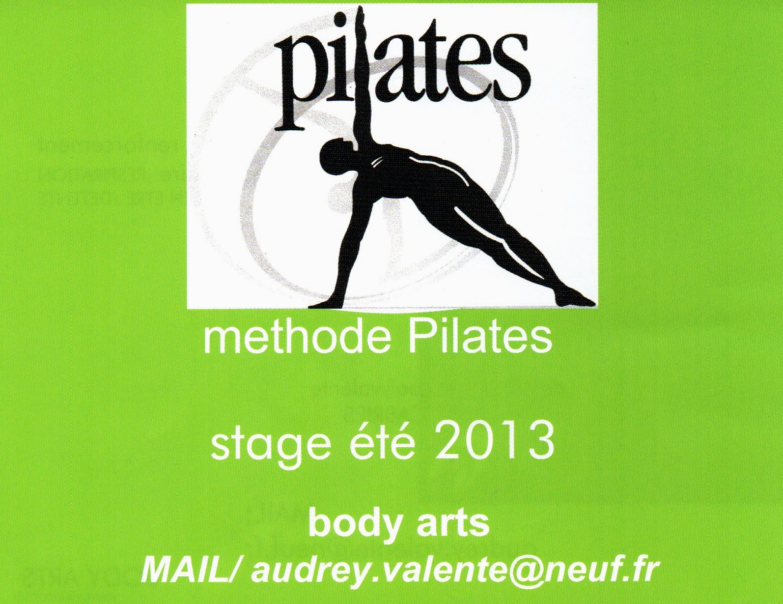 Flyer Pilates stage août 2013