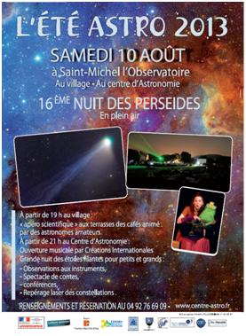 16ème nuit des Perseides St Michel de L'observatoire
