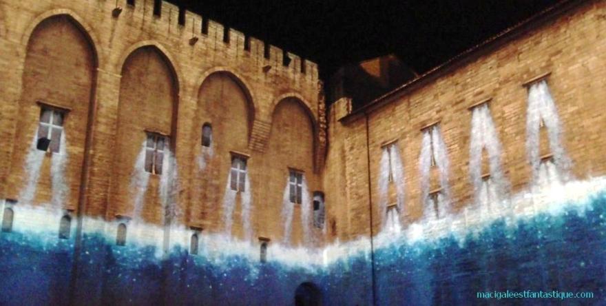 Avignon Luminessences 2013 - Les eaux du Rhône