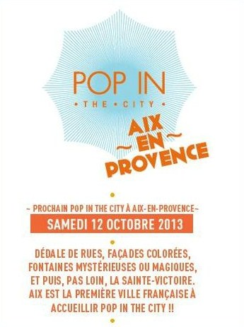 Pop in the city Aix en Provence