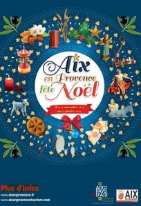 Affiche Noel Aix en Provence