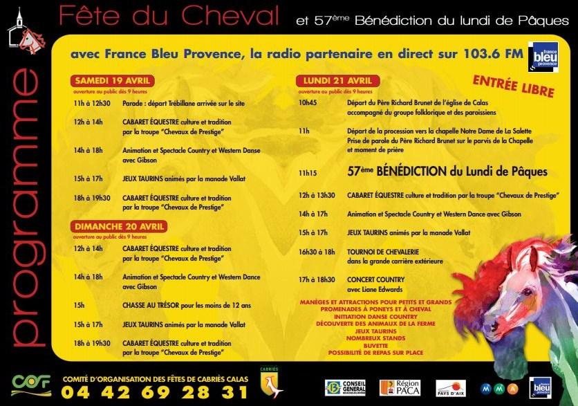 Fete du cheval Calas 2014 programme Flyer (2)
