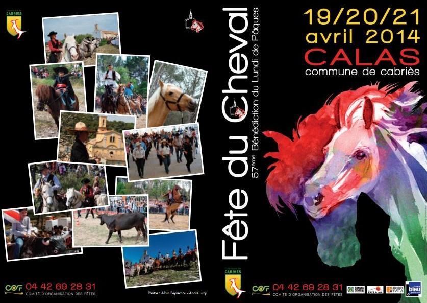 Fete du cheval Calas 2014 programme Flyer