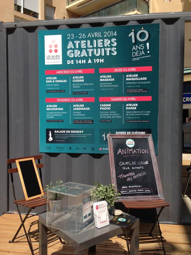 Les ateliers gratuits - 10 ans déjà ! les Allées Provençales