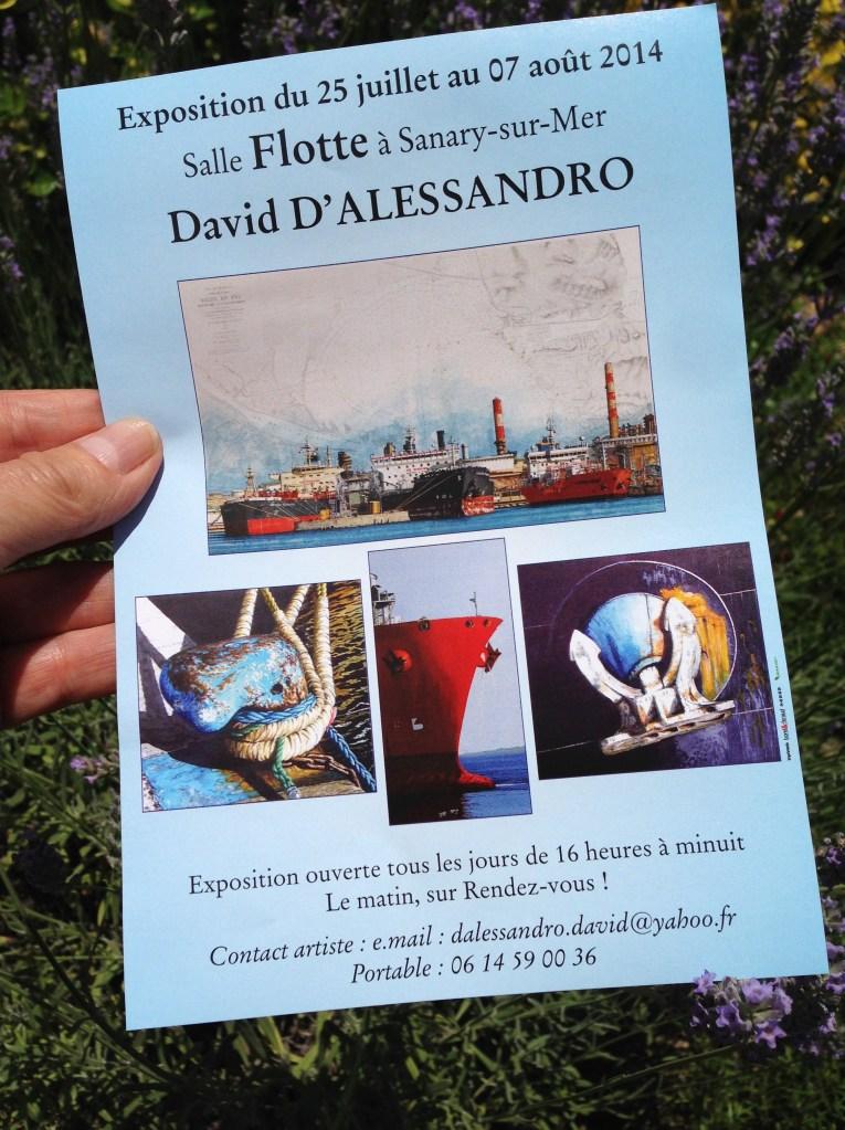 Expo David D'Alessandro Sanary sur Mer du 25 juillet au 7 août 2014