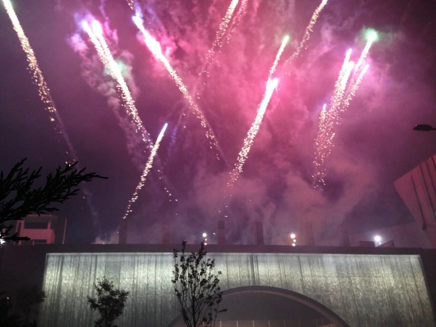 Mise en lumière du plus grand mur d'eau urbain - Aix en Provence